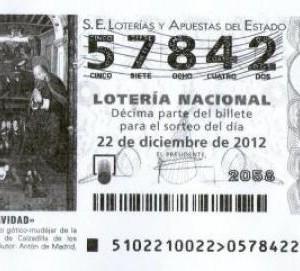 Número de loteria de Nadal 2012
