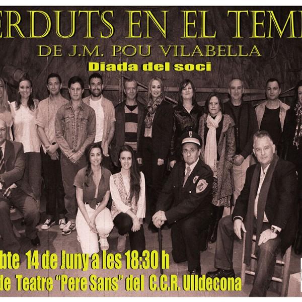 """Representació de l'obra """"Perduts en el temps"""" de JM Pou i Vilabella"""